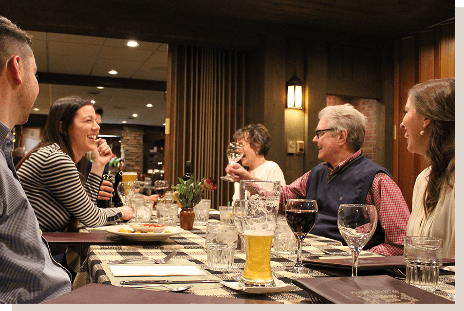 Family Dinner at Roepke's Village Inn Supper Club Chilton Village of Charlesburg