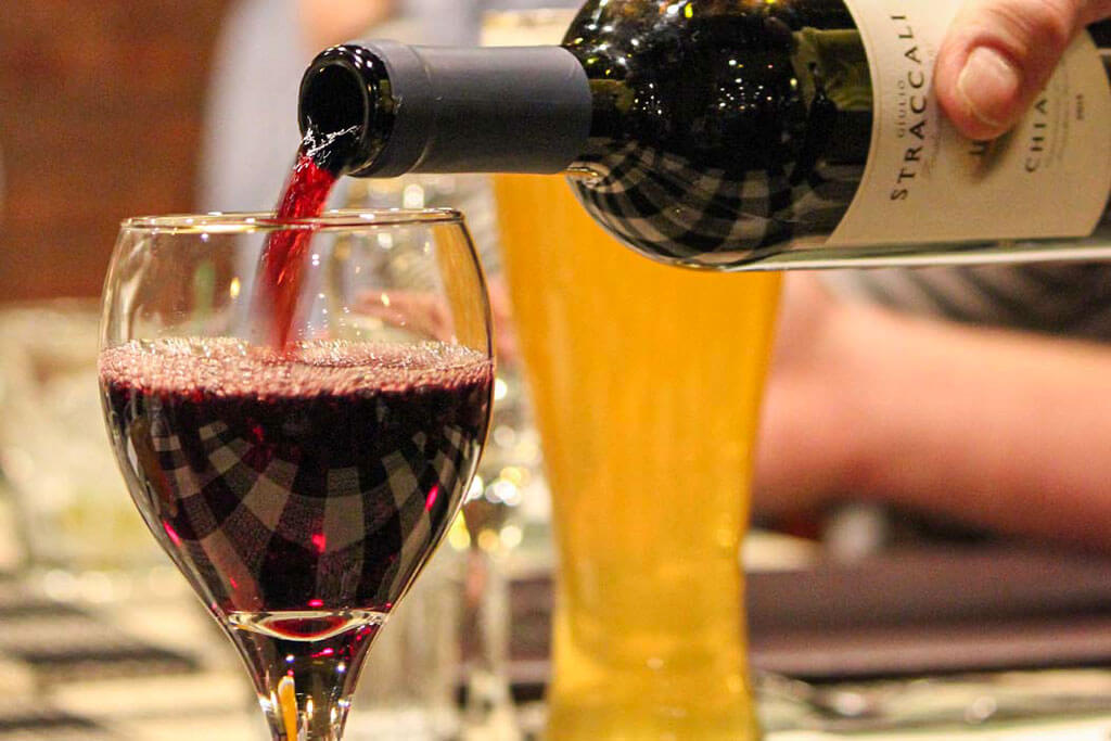 Wines by the glass at Roepke's Village Inn Charlesburg Supper Club Chilton